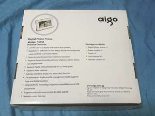 BNIB Aigo Digital Photo Frame F5055