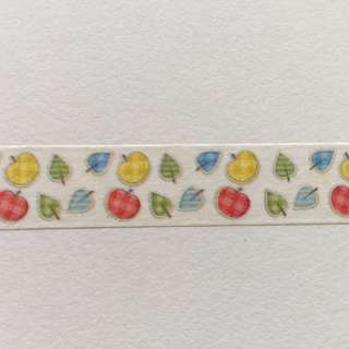 Plaid Leaves and Apples GJ112 Washi Tape 15mm x 10m