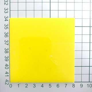 Acrylic glossy square yellow 8x8cm