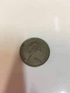 香港1982年女皇頭5元硬幣