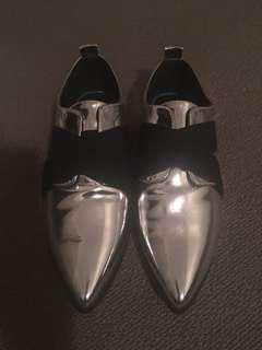 Brand New Silver loafers