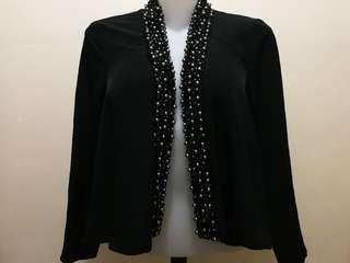 H&M formal pearl/beaded blazer