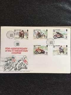 Isle of Man 1991 TT Races FDC stamps
