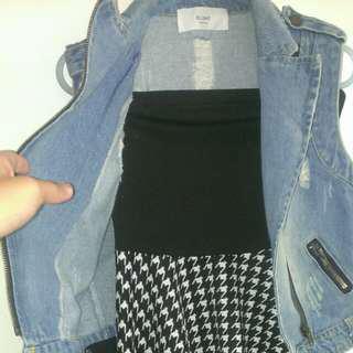 🚚 (含運100)平口短裙+造型背心