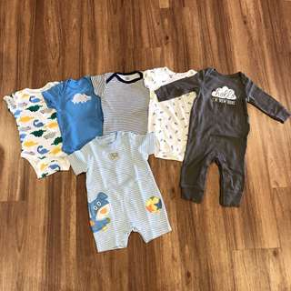 Assorted Baby Boys Clothes, 6 Months