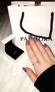 PANDORA INFINITY LOVE RING + STERLING SILVER RING