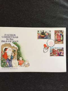 Isle of Man 1994 Christmas FDC stamps