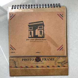 Photo Album Table Top Flippable Frame