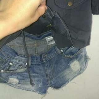 🚚 (含運100)軍風外搭+牛仔短褲