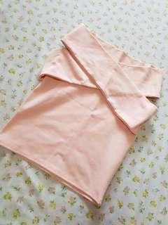 [Preloved] Pastel Pink Off Shoulder Top