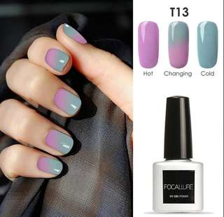 Temperature Color changing nail polish