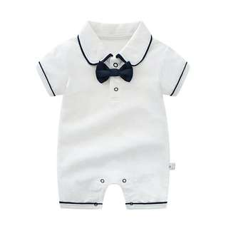 baby jumpsuit one pieces infant birthday party wedding dresses gentleman Short Sleeves Boy Clothes