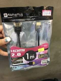 Alphaplus HDMI 1m 2.0 高清線