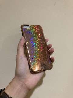 Sparkle rosegold case iphone 7/8