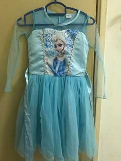 Free Shipping Used Frozen Dress(FOC Crown)