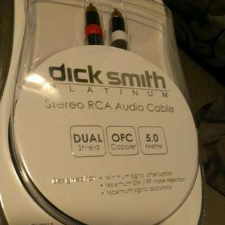 Brand new 5m Platinum Double Shielded RCA Cables