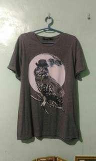 Grey Owl T Shirt Folded & Hung