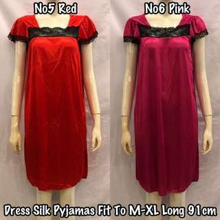 DRESS SILK PYJAMAS (READY STOCK)
