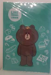 Line Friends brown熊大 台北line展限定folder 全新