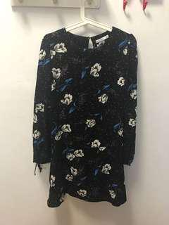 Preloved Mango dropwaist dress Size M