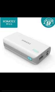 Mini Romoss Power Bank with Flashlight - 5000MaH