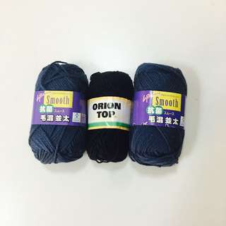 Knitting Yarn black and blue