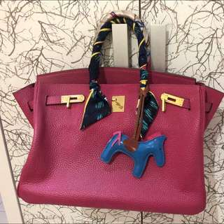 Inspired Hermes Birkin fuchsia 35cm (today deal)