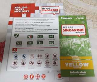 Trade Yellow NDP Preview 1 tickets for Actual Day 9 Aug NDP tickets