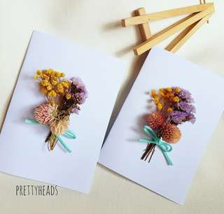 Real flower cards