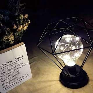 北歐風 鐵藝 鑽石 簡約 led 枱燈 ins ikea