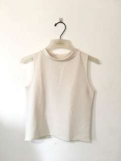 White low turtle neck top
