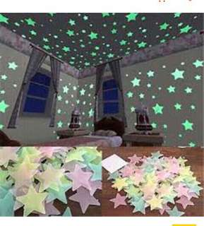 (SerbaSerbiku) Wall stiker bintang glow in the dark