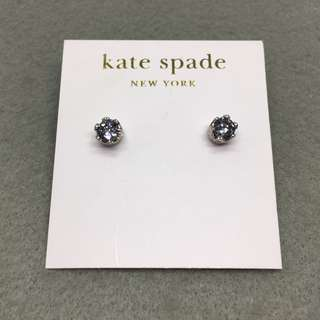 Kate Spade New York Sample Earrings 銀色閃石皇冠耳環