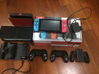 Nintendo switch with 4 digital games
