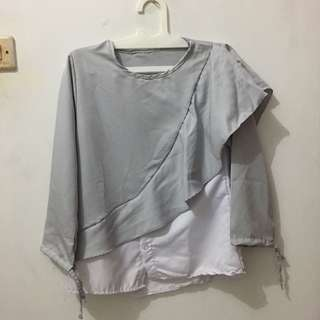 ale blouse gray