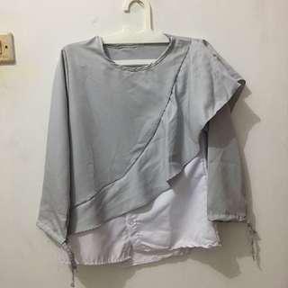 ale blouse gray