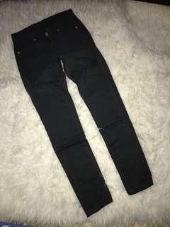 Celana panjang jeans abu gelap size S