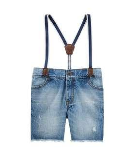 🚚 Oshkosh Suspender Denim Shorts