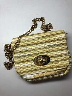 small gold yellow sidebag