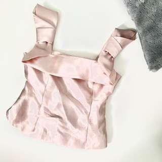Pink Satin Lux Top