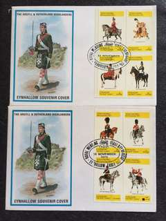Eynhallow(Holy Island) 1973 Royal Wedding 2x FDCs stamps