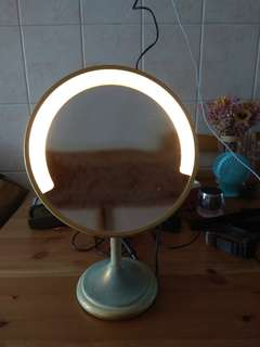 Concave face mirror with light 1967S made in ltaly