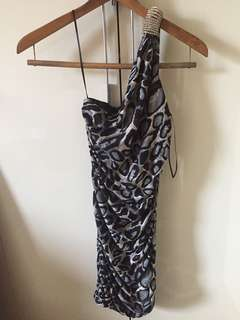 REPRICED!! Brand New Animal Print Fitted Dress