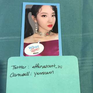 Twice Nayeon What Is Love Official Photocard