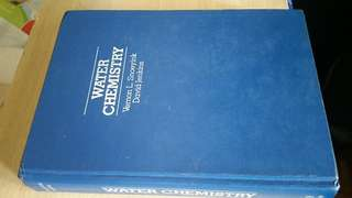 Water Chemistry textbook by Snoeyink & Jenkins