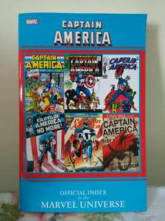 Captain America Official Index to the Marvel Universe