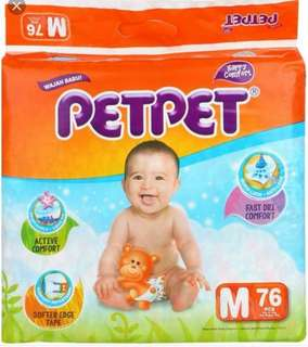 Petpet Diapers M size