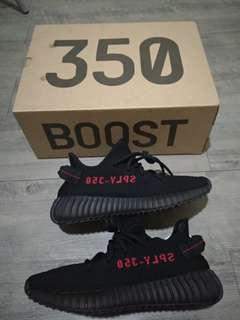 🚚 女鞋現貨一雙23號ADIDAS YEEZY BOOST 350V2黑紅字