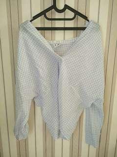 baju bangkok biru