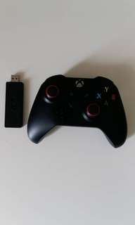 Xbox one controller with Xbox adapter